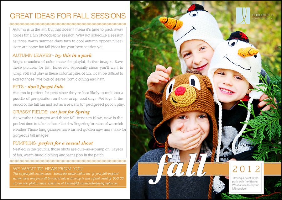 fall newsletter leanne liakos photography vancouver family